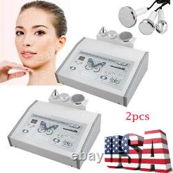 2X Ultrasound 1MHZ Ultrasonic Anti Aging Beauty Pro Facial Machine Skin Care Spa