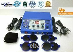 4 Channel Professional New Electrotherapy Machine Cont. & Pulse Therapy 786