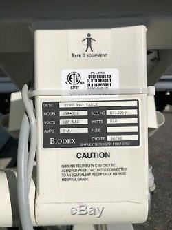 BIODEX ECHO PRO ULTRASOUND TABLE 058-700 With HAND CONTROL