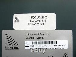 BK Medical 2202 Pro Focus Ultrasound System with 8670, 8803 Probes & Printer