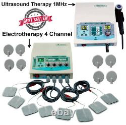 Combo Ultrasound Therapy 1Mhz Unit 4 Channel Electrotherapy Pro Medinza Machine