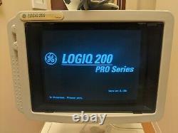 GE Logiq 200 Pro Series Ultrasound System with CBF 3.5MHz Convex Probe (DOM 2005)