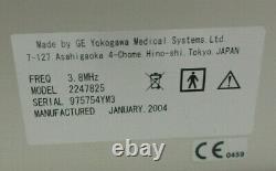 GE Logiq 200 Pro Series Ultrasound Ver 3.17e with 2247825 Convex Transducer