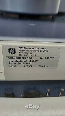 GE VOLUSON 730 PRO V BT05 2007 Ultrasound With Printer SW 5.3.0.635