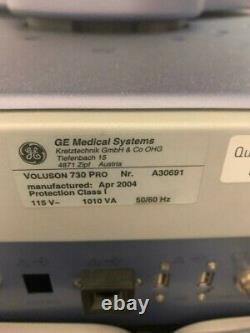 Ge Voluson 730 Pro Ultrasound Machine With 3 Probe