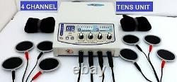 Home professional use Electrotherapy 4 Channel Cont. & Pulse physiotherapy unit
