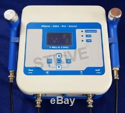 New Chiropractic Ultrasound Therapy 1 Mhz and 3 Mhz LCD Pre-Program Machine FSDB