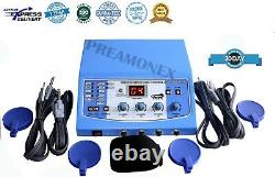 New Pro. 1 MHz Ultrasound & 3 MHz Ultrasound Machine & Electrotherapy 4 Ch Compac