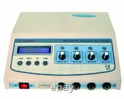 New Professional use 4 ch Electrotherapy Chiropractic Pulse Massager LCD Machine