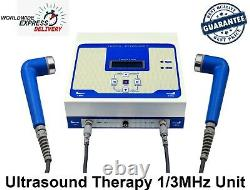 Pro 1MHz & 3MHz Ultrasound Therapy Machine Ultrasonic Pain Relief Massager Unit