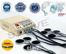 Pro Electrotherapy 4 Channel Physical Pain Relief Massager Therapy Home Use Unit