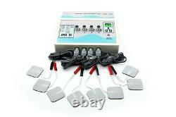 Pro Electrotherapy 4 Channel Physical Pain Relief Ultrasound Therapy Machine USA