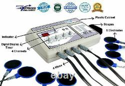 Pro. Home Use 1MHz Ultrasound therapy Unit & New Electrotherapy machine 4Channel