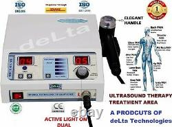 Pro. Physiotherapy Ultrasound Machine 1 Mhz Pain Relief Deep heat Treatment MJ