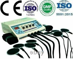 Professional Electrotherapy 4 Channel Pulse Massager Physiotherapy Carbon Pads &