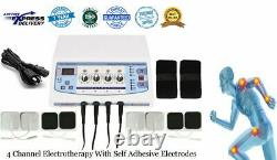 Professional Electrotherapy Physical Therapy Machine 4 Channel Ultrasonic Unit
