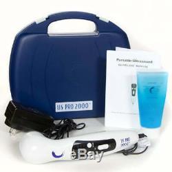 US Pro 2000 Pro Ultrasound Portable Therapy Unit & 5 liter Gel &8Oz Empty Bottle