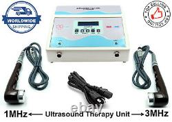 US Professional 1MHz & 3MHz Ultrasound therapy CE Certified Pain Relief LCD Unit
