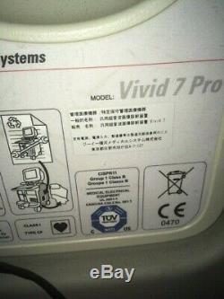 Vivid 7 pro ultrasound